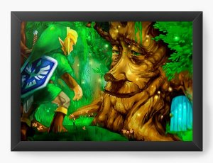 Quadro Decorativo The Legend of Zelda in the forest