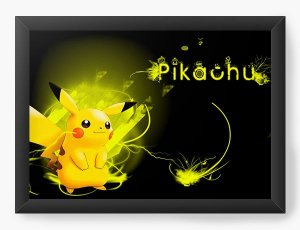 Quadro Decorativo Pikachu - Nerd e Geek - Presentes Criativos