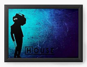 Quadro Decorativo Dr House - Nerd e Geek - Presentes Criativos