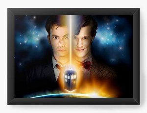 Quadro Decorativo A4 (33X24) Doctor Who - Nerd e Geek - Presentes Criativos