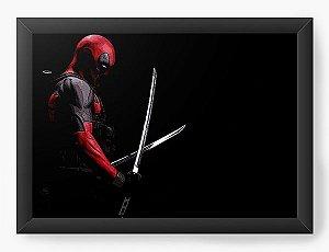 Quadro Decorativo Deadpool Ninja