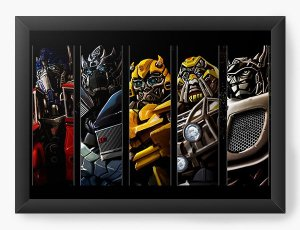 Quadro Decorativo A4 (33X24) Transformers - Nerd e Geek - Presentes Criativos