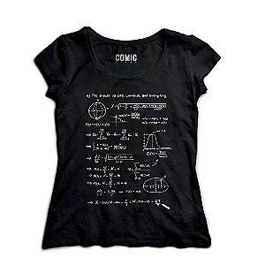 Camiseta Feminina Forma Universe - Nerd e Geek - Presentes Criativos