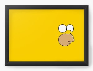 Quadro Decorativo A4 (33X24) Homer - Simpsons - Nerd e Geek - Presentes Criativos