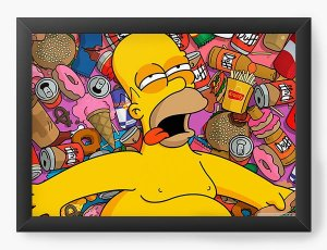 Quadro Decorativo Homer - Nerd e Geek - Presentes Criativos