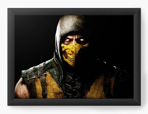 Quadro Decorativo A4 (33X24) Mortal Kombat - Nerd e Geek - Presentes Criativos