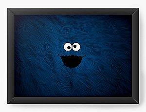 Quadro Decorativo A4 (33X24) Moster Cookie - Nerd e Geek - Presentes Criativos