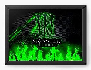 Quadro Decorativo A4 (33X24) Monster Energy - Nerd e Geek - Presentes Criativos