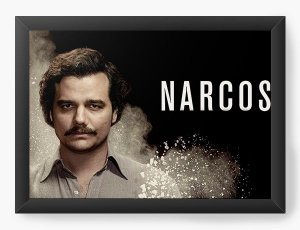 Quadro Decorativo Narcos - Serie - Nerd e Geek - Presentes Criativos