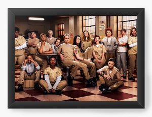 Quadro Decorativo A4 (33X24) Orange is the new Black - Nerd e Geek - Presentes Criativos