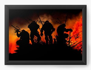 Quadro Decorativo Tartarugas Ninjas - Nerd e Geek - Presentes Criativos