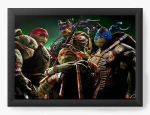 Quadro Decorativo Tartaruga Ninjas - Filme - Nerd e Geek - Presentes Criativos