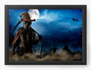 Quadro Decorativo A4 (33X24) Halloween - Nerd e Geek - Presentes Criativos