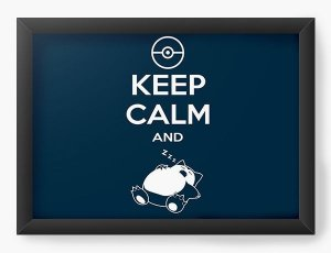Quadro Decorativo Keep Calm And Slep - Nerd e Geek - Presentes Criativos