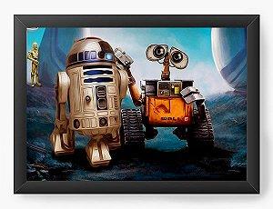Quadro Decorativo R2-D2 e Walle-e
