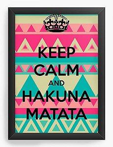 Quadro Decorativo Keep Calm and Hakuna Matata