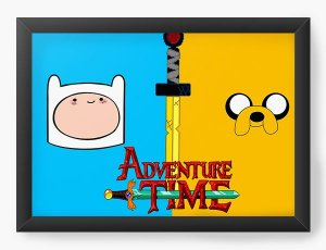 Quadro Decorativo A4 (33X24) Adventure Time - Nerd e Geek - Presentes Criativos