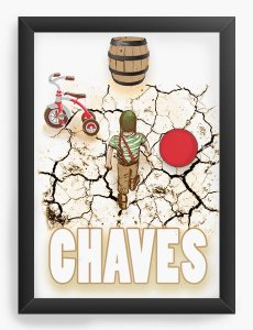 Quadro Decorativo Chaves - Nerd e Geek - Presentes Criativos