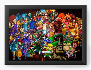 Quadro Decorativo Games - Nerd e Geek - Presentes Criativos