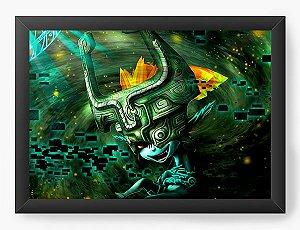 Quadro Decorativo A4 (33X24) Universo dos Games - Nerd e Geek - Presentes Criativos