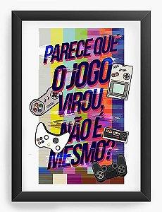 Quadro Decorativo O Jogo - Nerd e Geek - Presentes Criativos