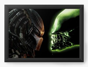 Quadro Decorativo A4 (33X24) O Predador - Nerd e Geek - Presentes Criativos