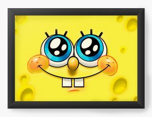 Quadro Decorativo A4 (33X24) Bob Esponja - Nerd e Geek - Presentes Criativos