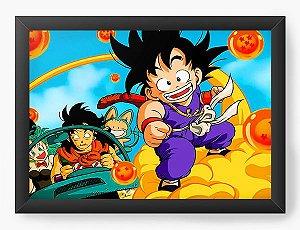 Quadro Decorativo A4 (33X24) Dragon Ball Anime - Nerd e Geek - Presentes Criativos