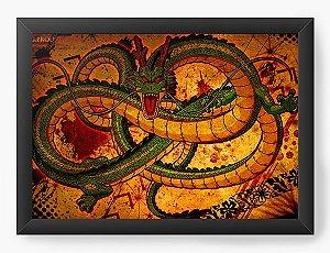 Quadro Decorativo A4 (33X24) Dragon Ball Shenlong - Nerd e Geek - Presentes Criativos
