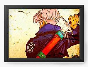 Quadro Decorativo A4 (33X24) Dragon Ball Trunks - Nerd e Geek - Presentes Criativos