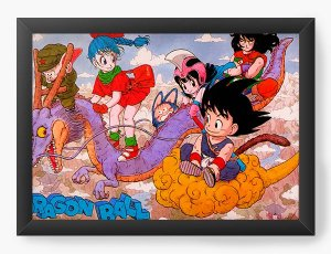 Quadro Decorativo A4 (33X24) Dragon Ball funny - Nerd e Geek - Presentes Criativos