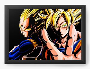 Quadro Decorativo Dragon Ball - V de Vegeta - Nerd e Geek - Presentes Criativos