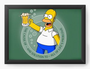 Quadro Decorativo The Simpsons