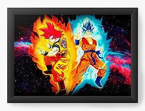 Quadro Decorativo A4 (33X24) Dragon Ball Super Strength - Nerd e Geek - Presentes Criativos