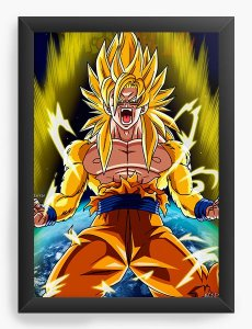 Quadro Decorativo Dragon Ball Super Vegeta - Nerd e Geek - Presentes Criativos