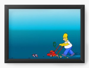 Quadro Decorativo Bored Homer Simpson - Nerd e Geek - Presentes Criativos