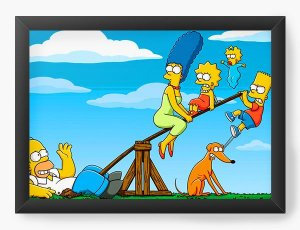 Quadro Decorativo The Simpsons - funny american family