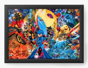 Quadro Decorativo Street Fighter Mega Man - Nerd e Geek - Presentes Criativos