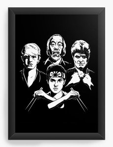 Quadro Decorativo A4 (33X24) Karate Kid - Nerd e Geek - Presentes Criativos