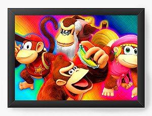 Quadro Decorativo Donkey Kong Happy