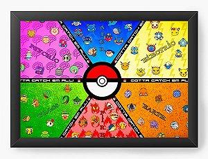 Quadro Decorativo Pokemon Pokebola