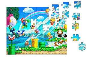 Quebra-Cabeça New Super Mario Bros 90 pçs - Nerd e Geek - Presentes Criativos