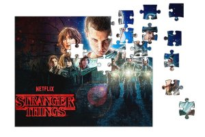 Quebra-Cabeça Stranger Things 90 pçs - Nerd e Geek - Presentes Criativos