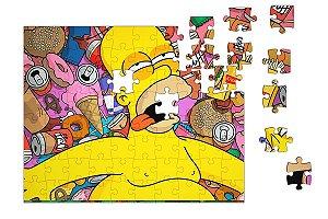 Quebra-Cabeça Homer Simpson 90 pçs - Nerd e Geek - Presentes Criativos