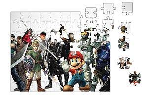 Quebra-Cabeça Mario, Zelda, Pikachu - Diversos 90 pçs - Nerd e Geek - Presentes Criativos