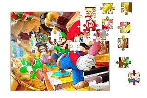 Quebra-Cabeça Super Mario  Luigi90 pçs - Nerd e Geek - Presentes Criativos