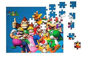 Quebra-Cabeça Super Mario Word e Diversos 90 pçs - Nerd e Geek - Presentes Criativos