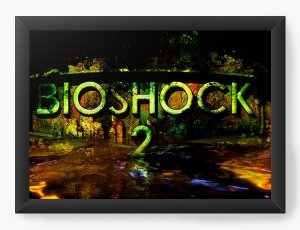 Quadro Decorativo A4 (33X24) BioShock 2 - Nerd e Geek - Presentes Criativos