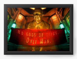 Quadro Decorativo A4 (33X24) BioShock Quotes - Nerd e Geek - Presentes Criativos