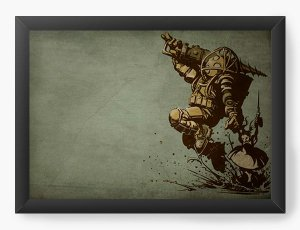 Quadro Decorativo BioShock - Big Daddy - Nerd e Geek - Presentes Criativos